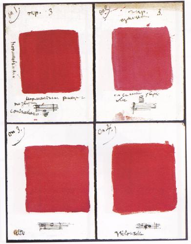 音=色彩のタブロー(1926) *赤と青だけじゃない。他の色もある。
