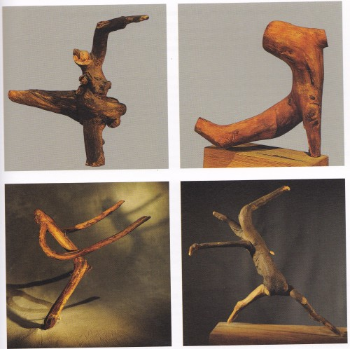木の根っこを用いた彫刻(1920年代はじめ)