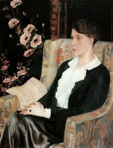 エヴドキヤ・グレボヴァの肖像(1915)